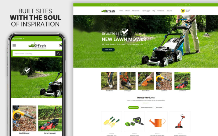 Gtools The Plant amp Tools Accessories Premium Shopify Theme