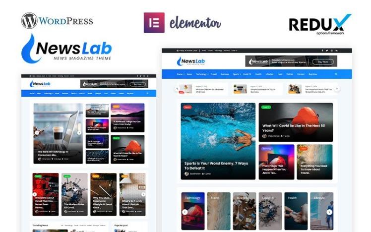 NewsLab News Magazine WordPress Theme
