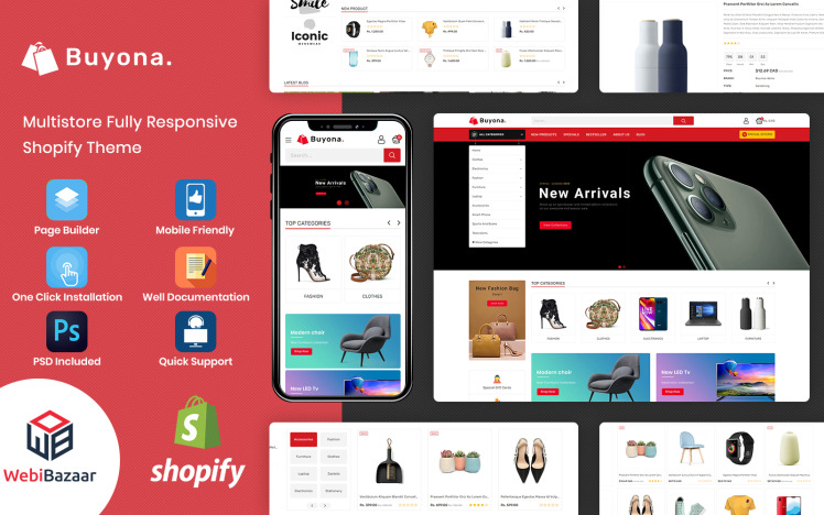 Buyona Multipurpose Ecommerce Template Shopify Theme