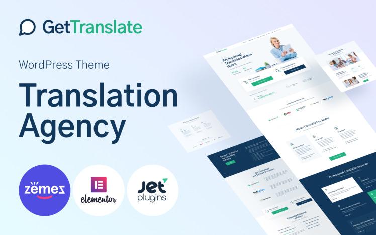 GetTranslate Translation Agency WordPress Theme