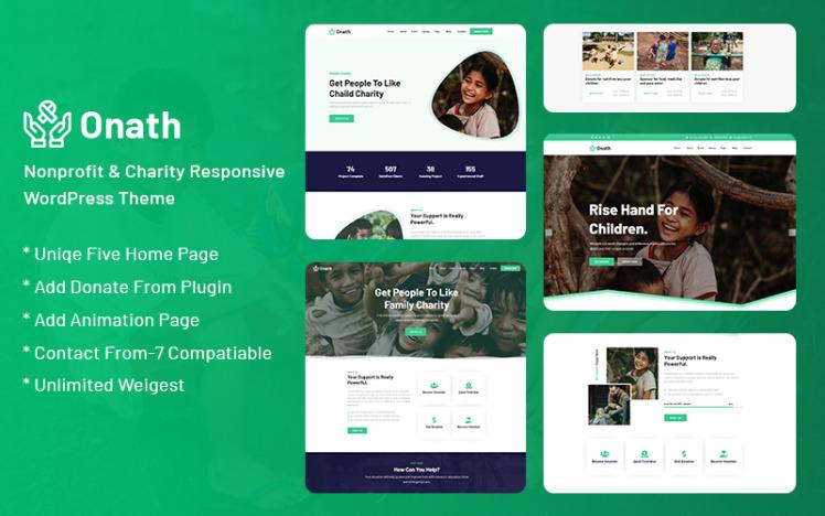 Onath Nonprofit and Charity Responsive WordPress Theme