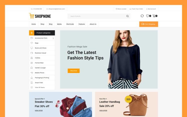 Shopnone Mega Shop Multipurpose WooCommerce Theme