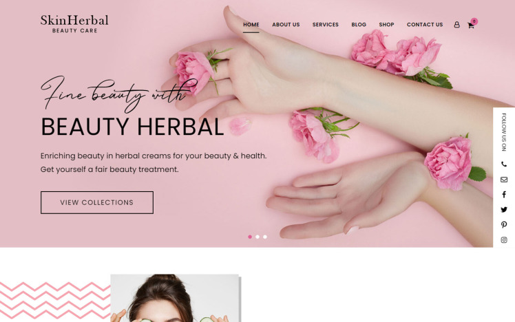 SkinHerbal Beauty Care WordPress Theme