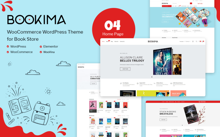 Bookima Theme for Book Store WooCommerce Theme