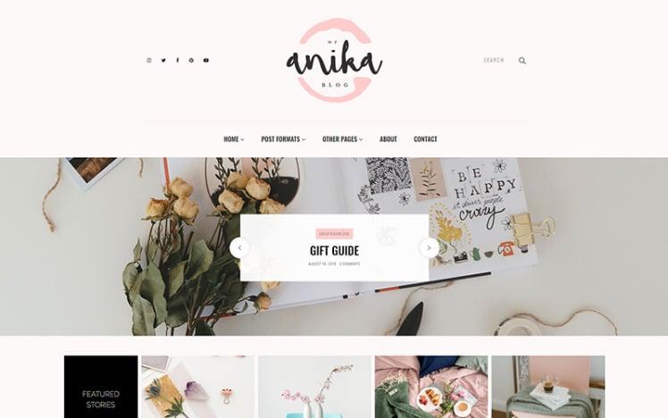 Anika Feminine Blog WordPress Theme