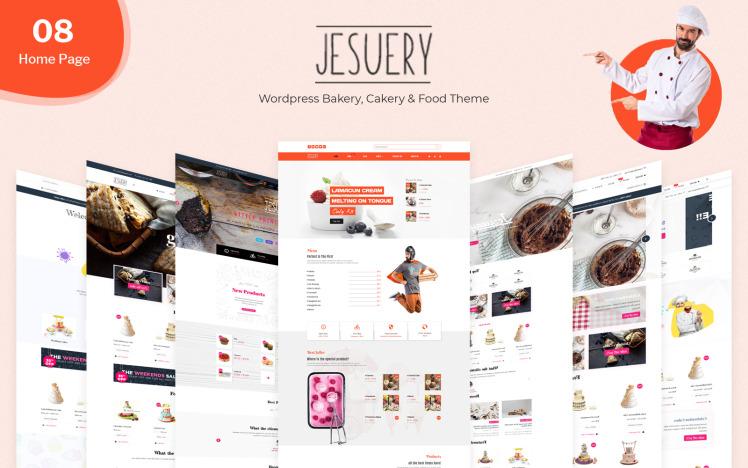 Jesuery WordPress Bakery Cakery amp Food WooCommerce Theme