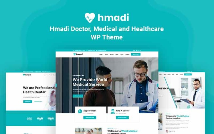 Hmadi Doctor Medical And Healthcare WordPress Theme