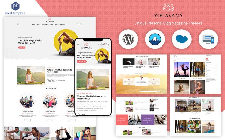 Yogavana Yoga Fitness amp Meditation WordPress Theme