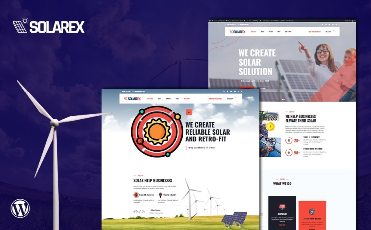 Solarex Renewable Solar Energy WordPress Theme