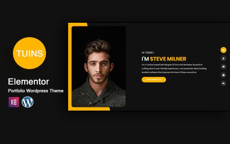 Tunis Personal Portfolio amp Resume WordPress Theme