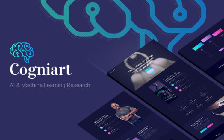 Cogniart Responsive AI Research WordPress Theme