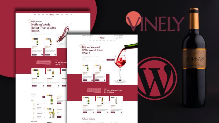 Vinely Wine Shop WooCommerce Theme