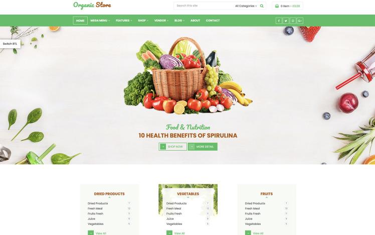 Organic Fruit Shop RTL WooCommerce Theme