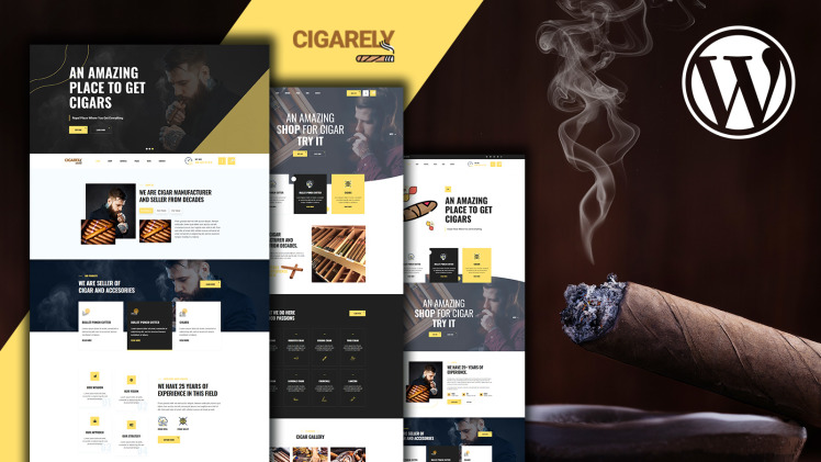 Cigarely Cigar Shop WooCommerce Theme