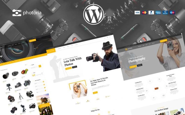 Photoria Photographer Studio and shop WooCommerce Theme