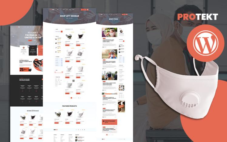 Protekt Medical Face Mask Store WooCommerce Theme