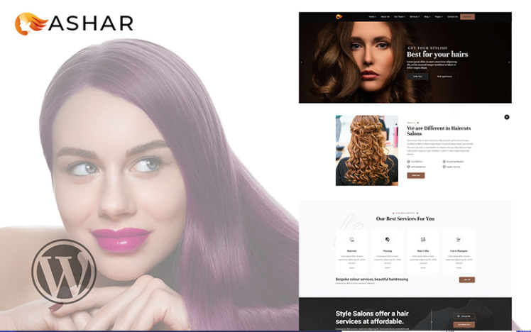Ashar Hair Dresser Salon WooCommerce Theme
