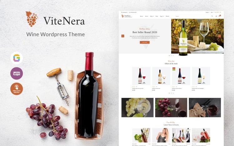 Wine Shop WooCommerce Theme Vite Nera