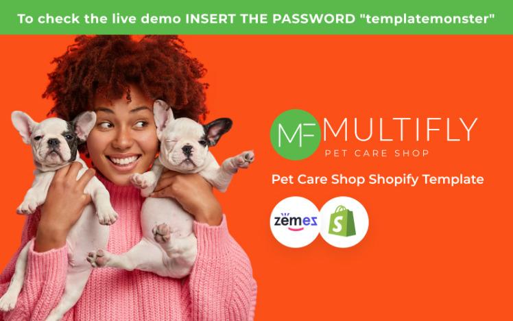 Multifly Responsive Pets Shop Shopify Theme