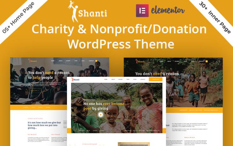 Shanti Charity amp NonprofitDonation WordPress Theme