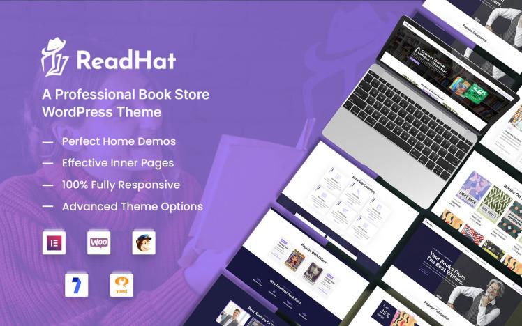 ReadHat Book Store WooCommerce WordPress Theme
