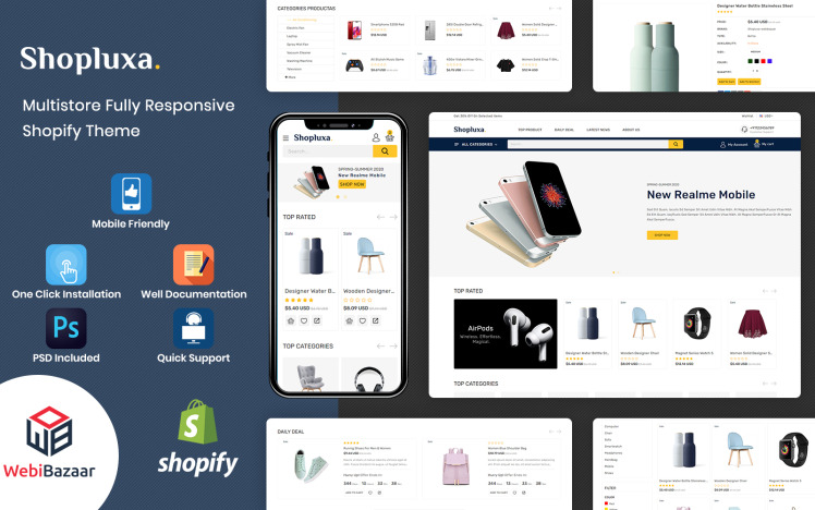 Shopluxa Multipurpose Premium Shopify Website Template