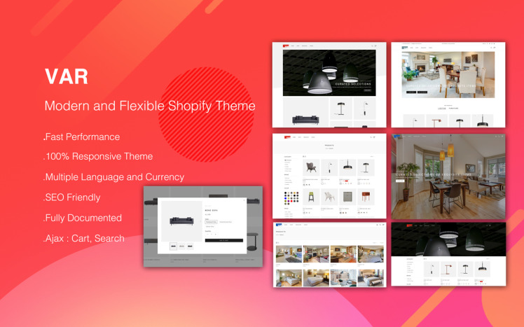 VAR Modern and Flexible Shopify Theme