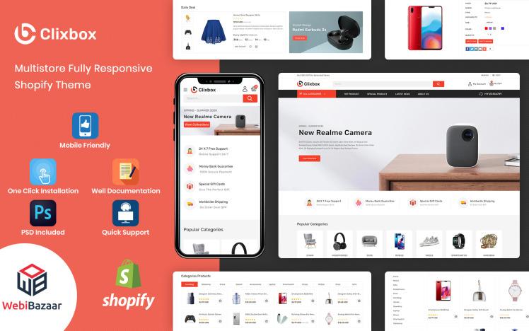 Clixbox Multipurpose Warehouse Shopify Theme