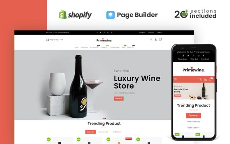 Prime Wine Store Shopify Theme