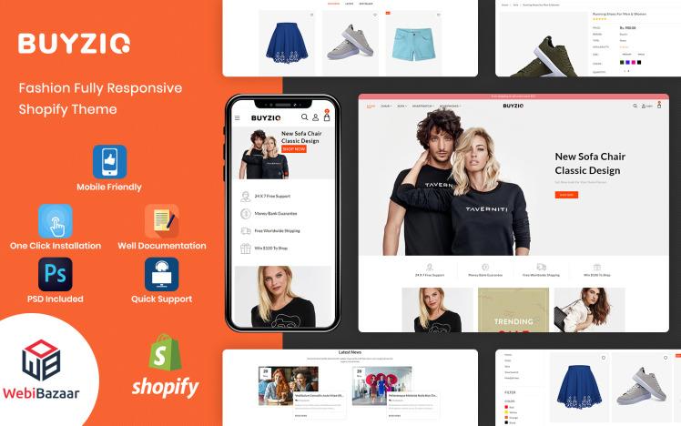 Buyzio Fashion amp Clothing Multipurpose Shopify Theme