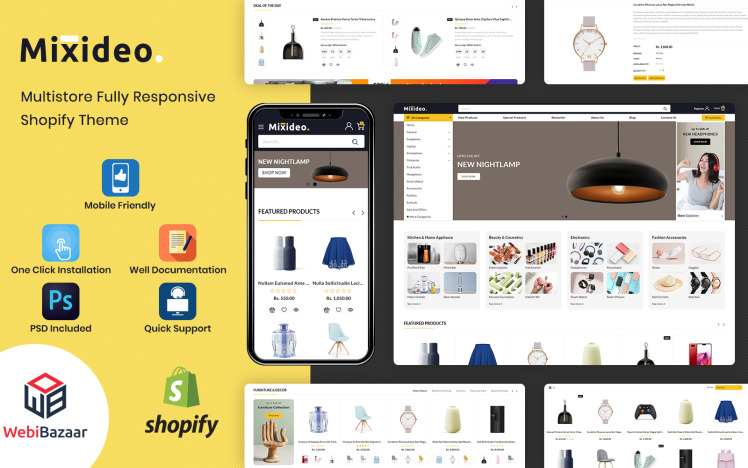 Mixideo Multipurpose Modular Shopify Theme