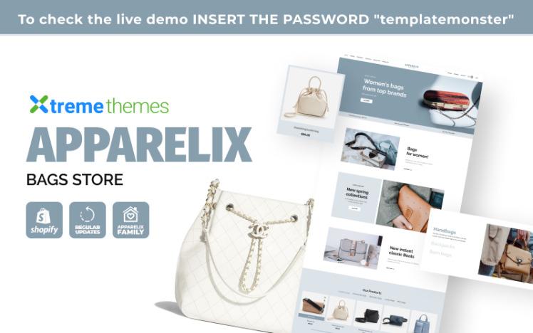 Apparelix Bags Store Shopify Theme