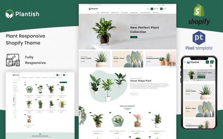 Plantish Gardening amp Houseplants Shopify Template