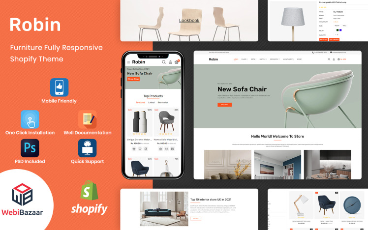 Robin Modern Furniture Responsive Shopify Template