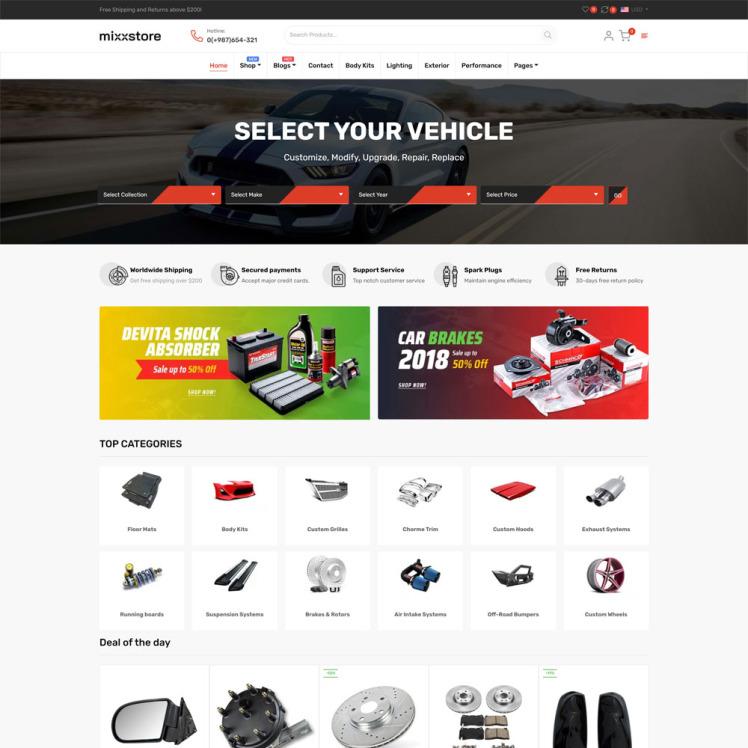 MixxStore Responsive Shopify Theme