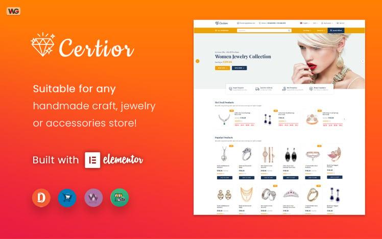 Certior Jewelry Store Elementor WooCommerce Theme