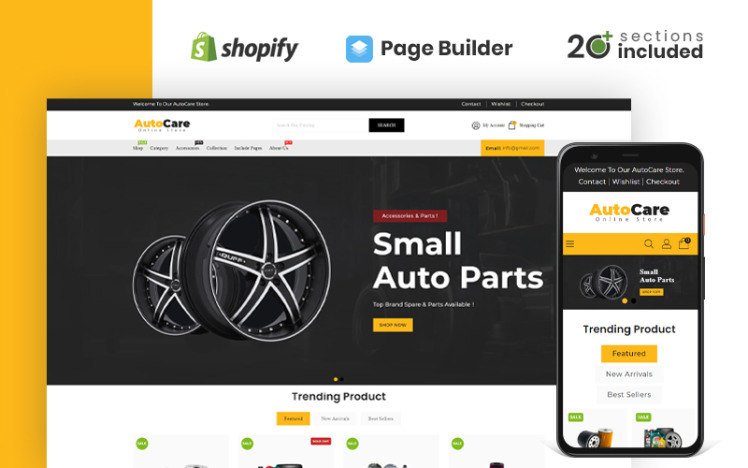 Autocare Parts and Accessories Store Shopify Theme