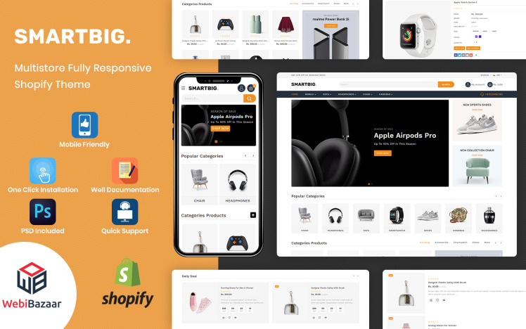 SmartBig Mega Electronic Shopify Template
