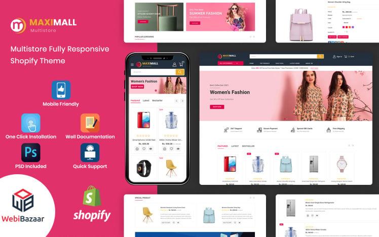 MaxiMall Multipurpose Premium Shopify Theme