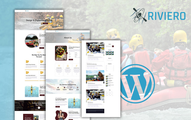Riviero Rafting WordPress Theme