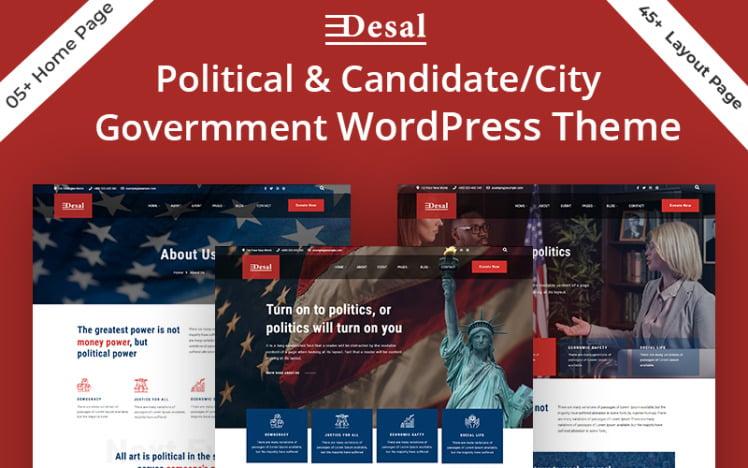 Desal Political amp CandidateCity Government WordPress Theme