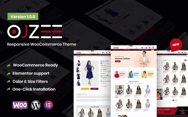 Ojzee Responsive eCommerce WordPress Theme for WooCommerce