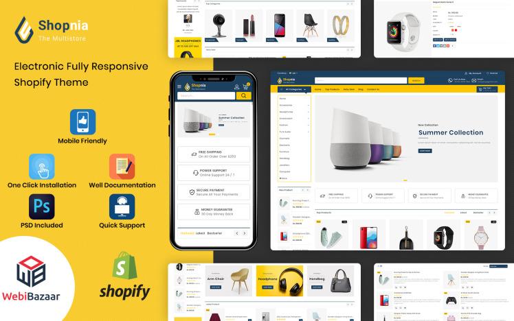 Shopnia Multipurpose Premium Shopify Template