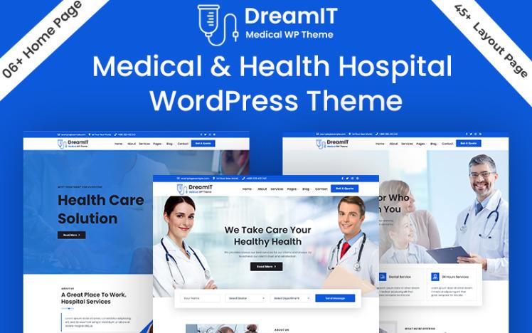 DreamIT Medical amp Health Hospital Dental Clinic Doctor WordPress Theme