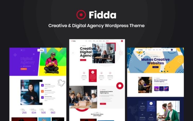 Fidda Portfolio amp Digital Agency WordPress Theme