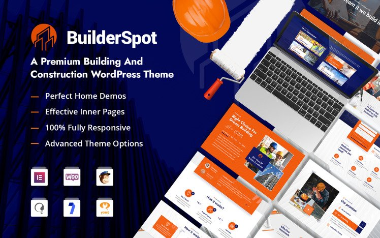 BuilderSpot Building and Construction WordPress Theme