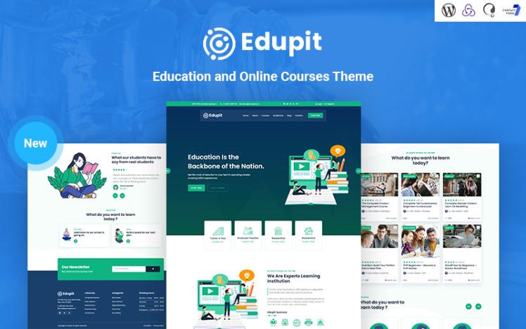 Edupit Education LMS Responsive WordPress Theme