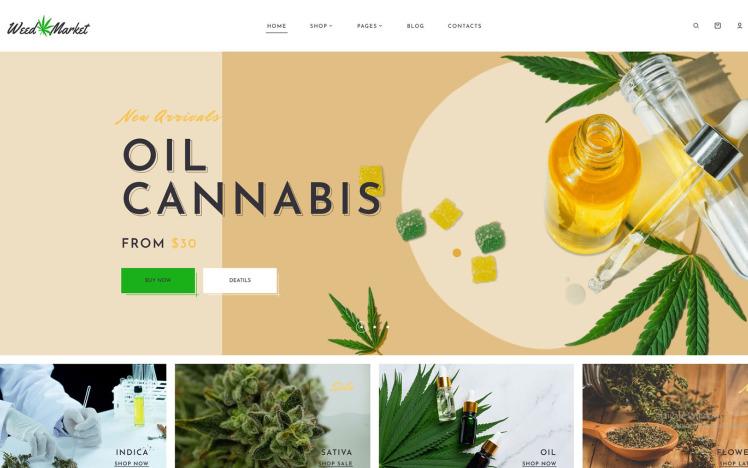 WeedMarket Dokan Multivendor Marketplace WordPress Theme