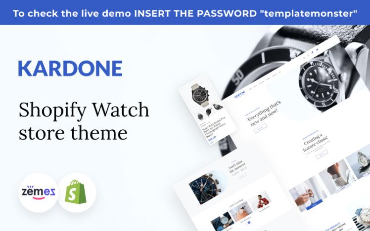 Kardone Shopify Watch Store Theme