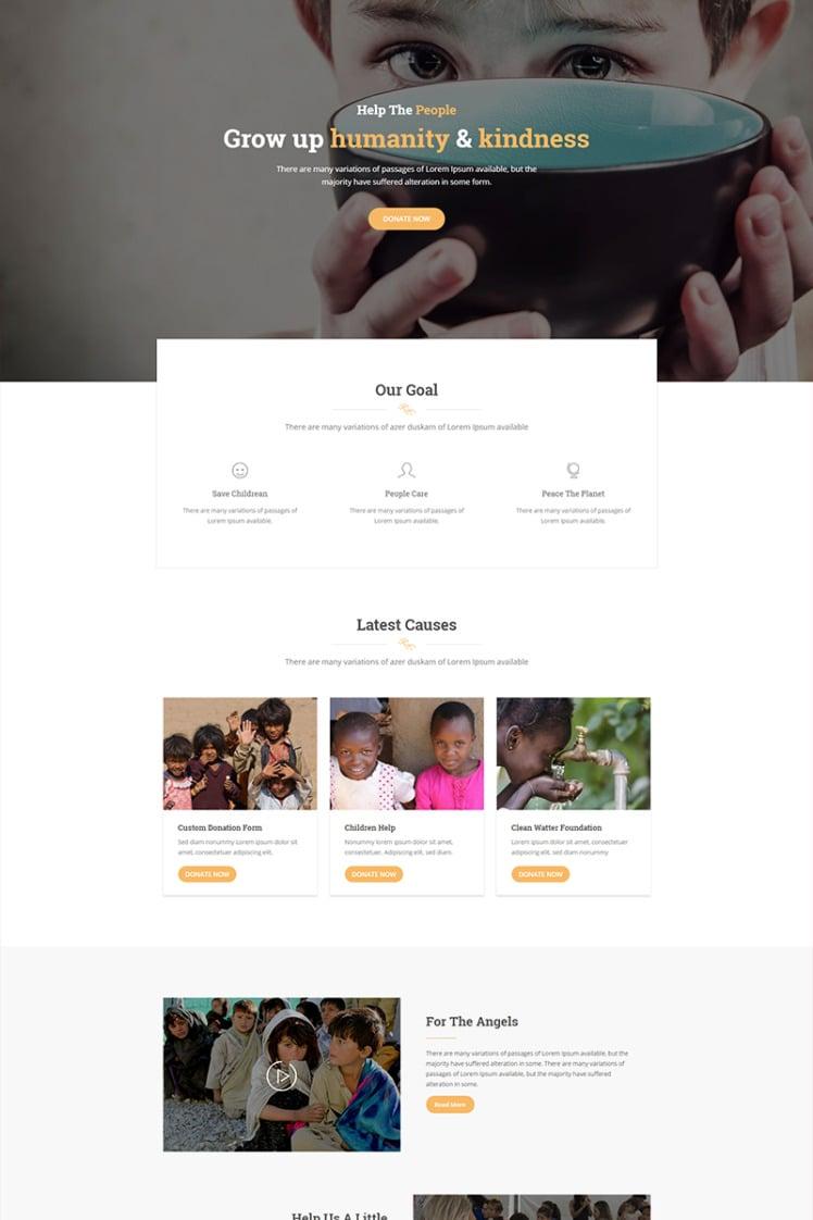 Vorosa Nonprofit charity hub fundraising WordPress Theme